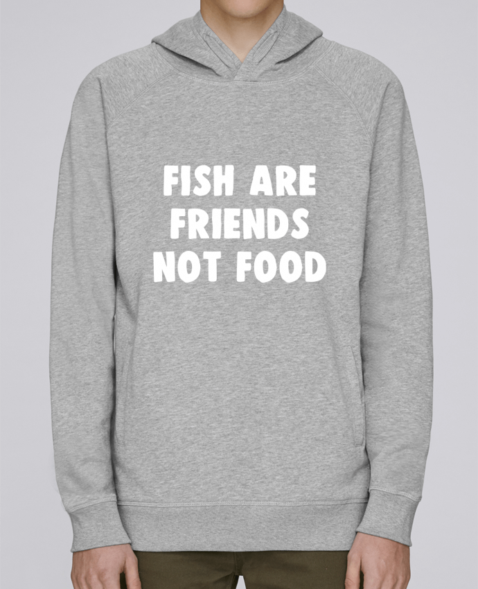 Sudadera Hombre Capucha Stanley Base Fish are firends not food por Bichette
