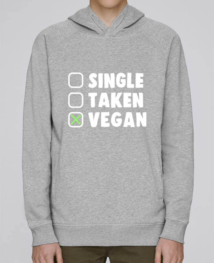 Sudadera Hombre Capucha Stanley Base Single Taken Vegan por Bichette