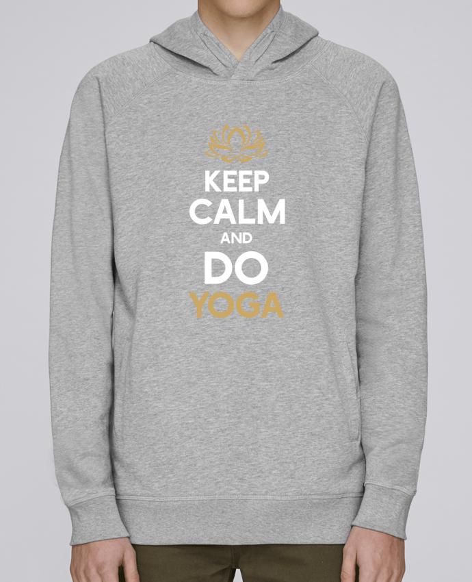Sudadera Hombre Capucha Stanley Base Keep calm Yoga por Original t-shirt