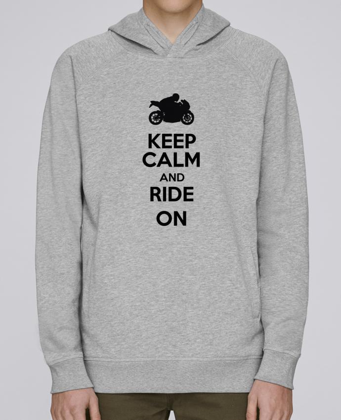 Sudadera Hombre Capucha Stanley Base Keep calm Moto por Original t-shirt