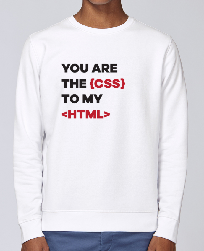 Sudadera básica manga pegada unisexo Stanley Stella Rise You are the css to my html por tunetoo