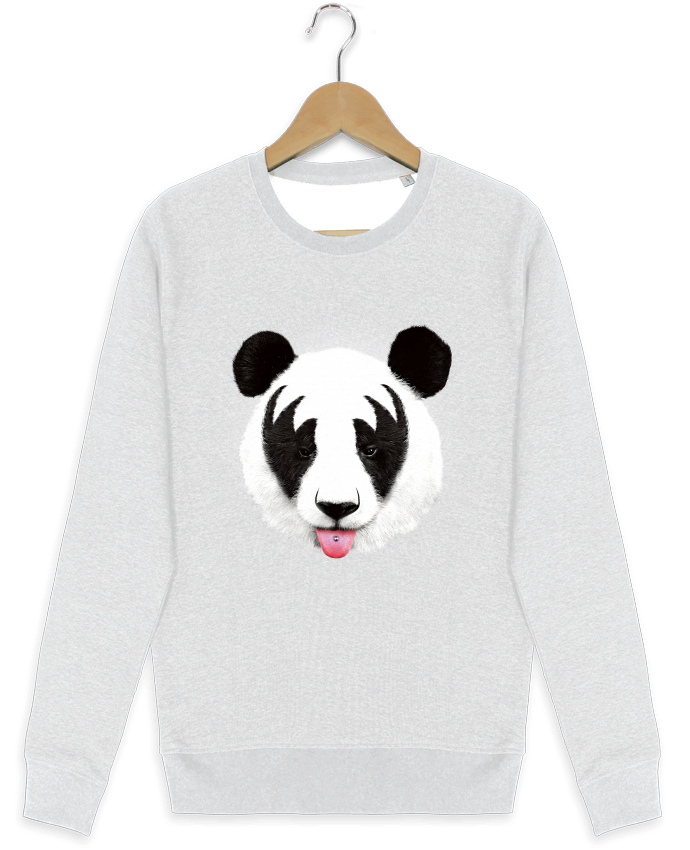 Sweat-shirt Stanley stella modèle seeks Kiss of a panda por robertfarkas