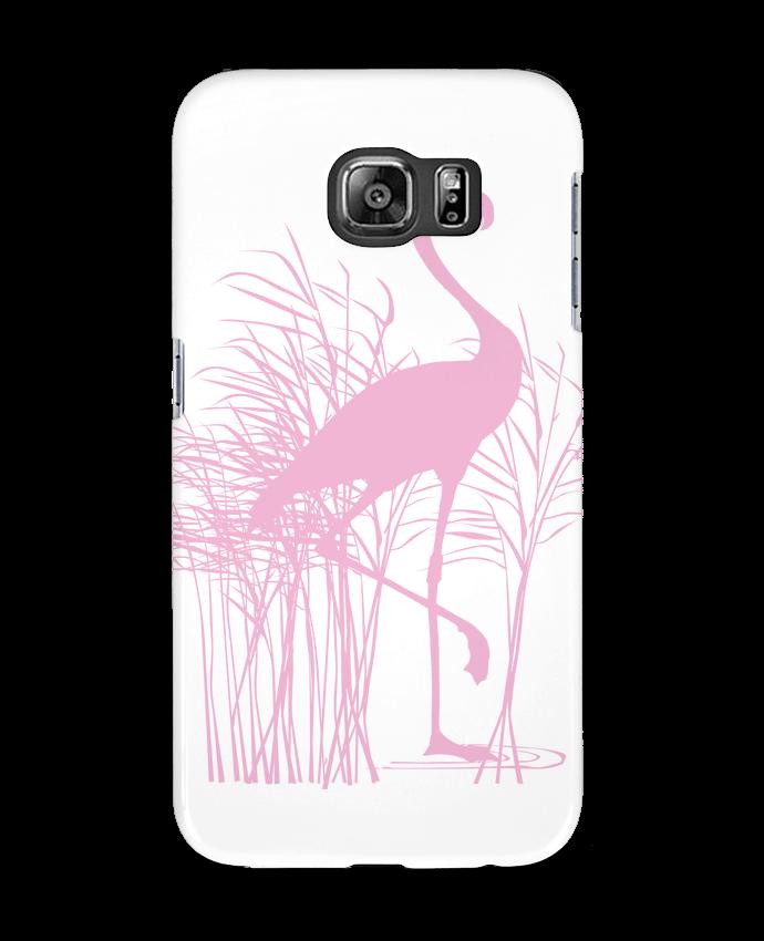 Carcasa Samsung Galaxy S6 Flamant rose dans roseaux - Studiolupi