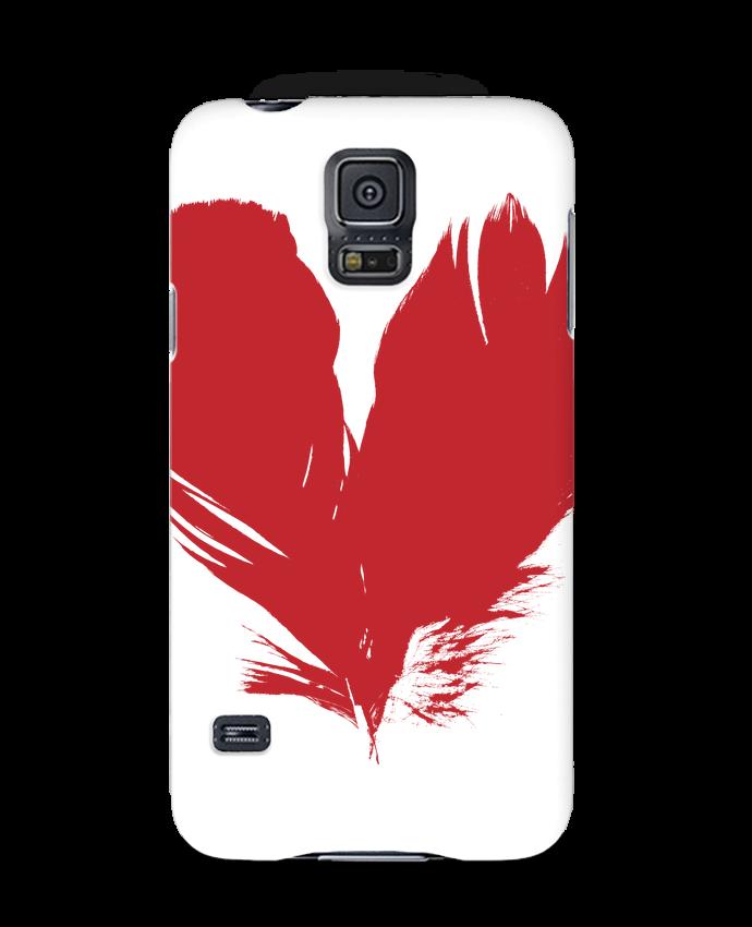 Carcasa Samsung Galaxy S5 coeur de plumes por Studiolupi