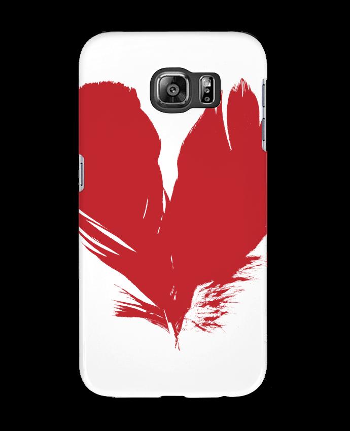 Carcasa Samsung Galaxy S6 coeur de plumes - Studiolupi