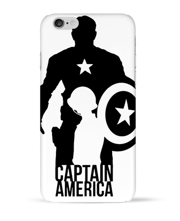 Carcasa 3D Iphone 6  Captain america por Kazeshini