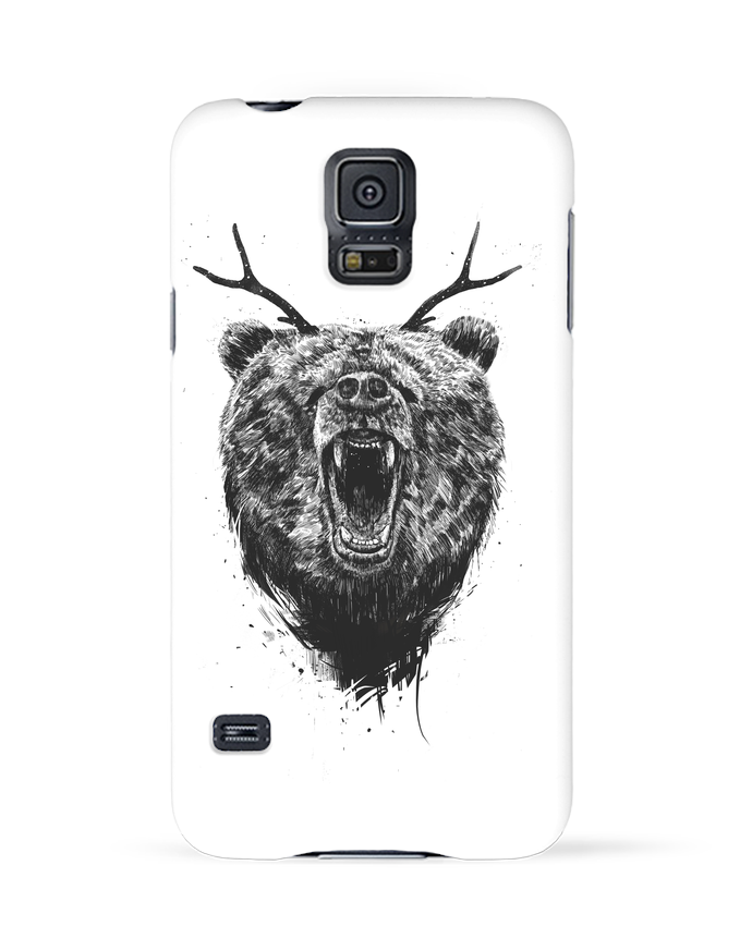 Carcasa Samsung Galaxy S5 Angry bear with antlers por Balàzs Solti