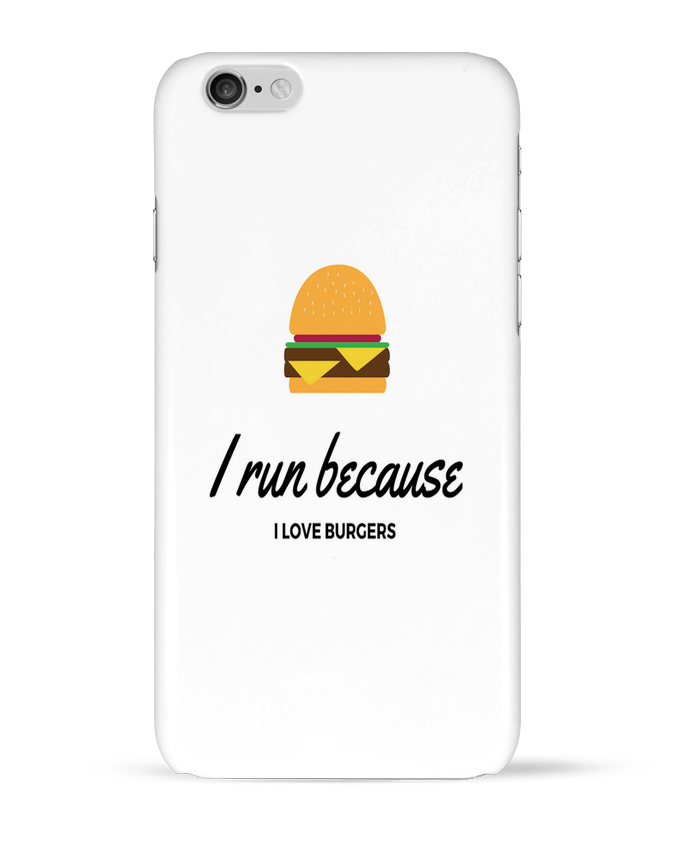 Carcasa  Iphone 6 I run because I love burgers por followmeggy