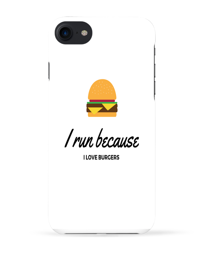 Carcasa Iphone 7 I run because I love burgers de followmeggy