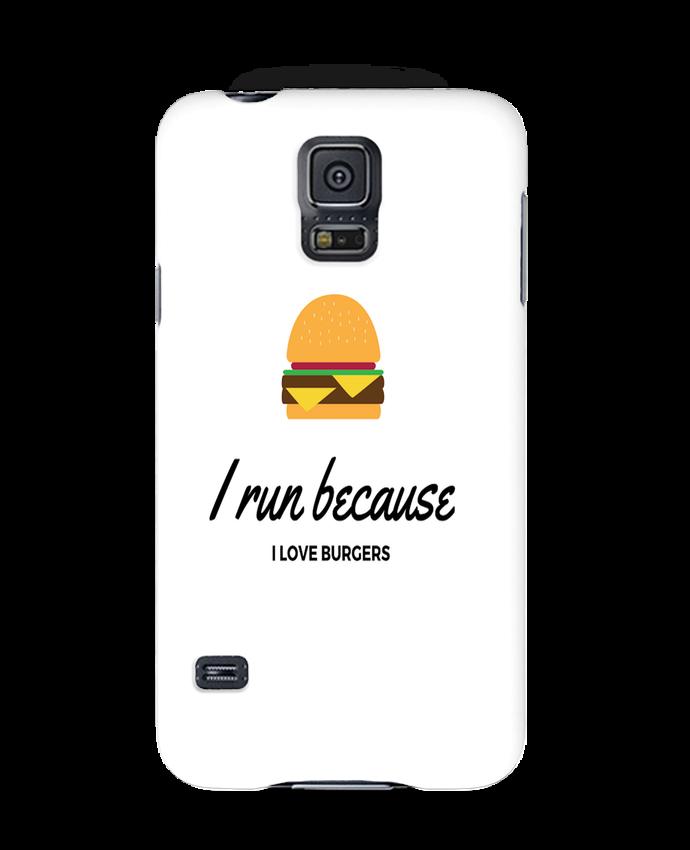 Carcasa Samsung Galaxy S5 I run because I love burgers por followmeggy