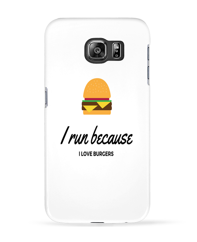 Carcasa Samsung Galaxy S6 I run because I love burgers - followmeggy