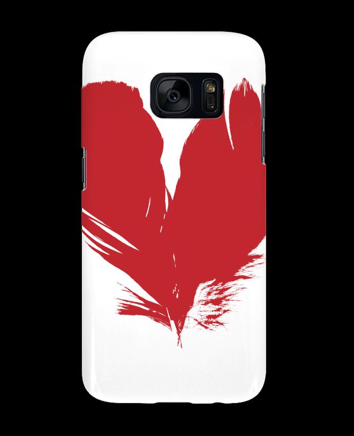 Carcasa Samsung Galaxy S7 coeur de plumes por Studiolupi