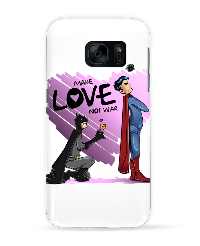 Carcasa Samsung Galaxy S7 MAKE LOVE NOT WAR (BATMAN VS SUPERMAN) por teeshirt-design.com