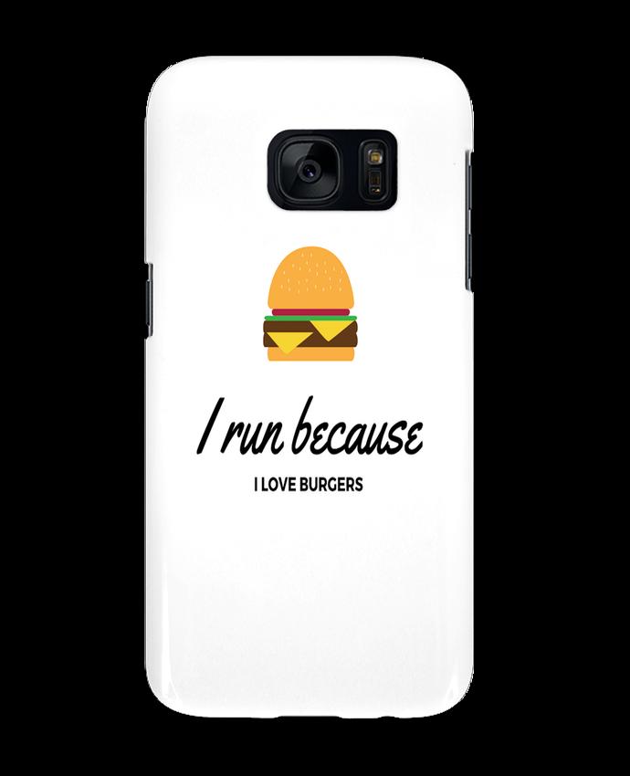 Carcasa Samsung Galaxy S7 I run because I love burgers por followmeggy