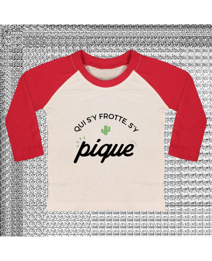 Camiseta Bebé Béisbol Manga Larga Qui s'y frotte d'y pique por Nana