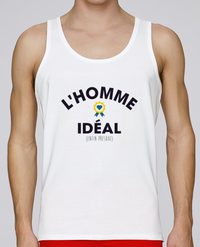 Camiseta de tirantes algodón orgánico hombre Stanley Runs L'homme Idéal por tunetoo 100% coton bio
