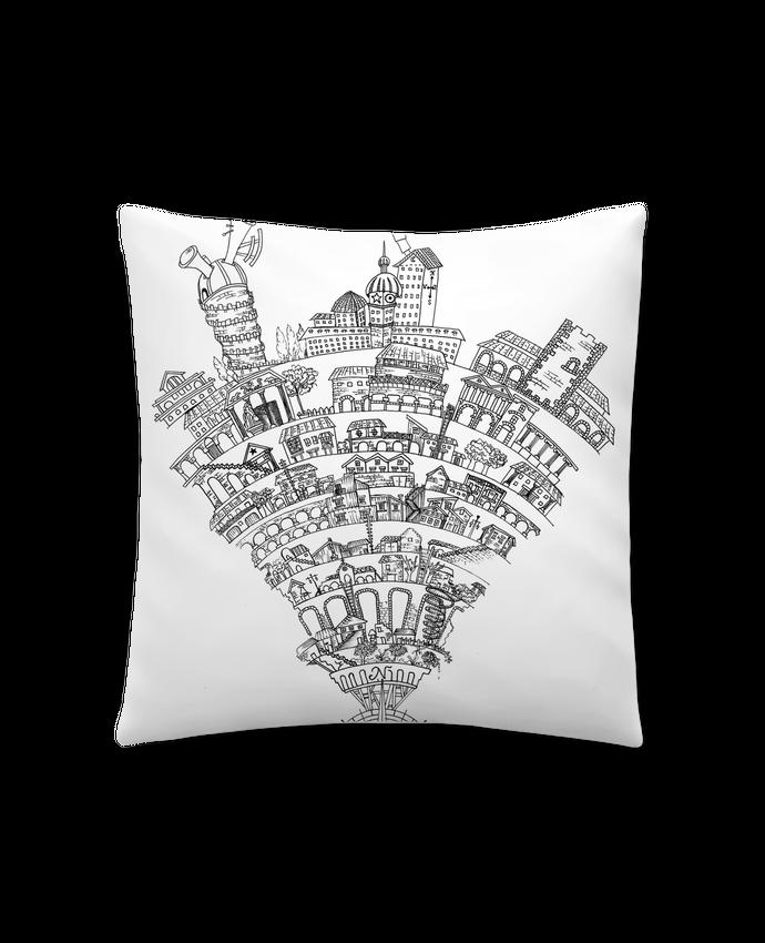 Cojín Sintético Suave 45 x 45 cm Perintzia invisible city por Jugodelimon