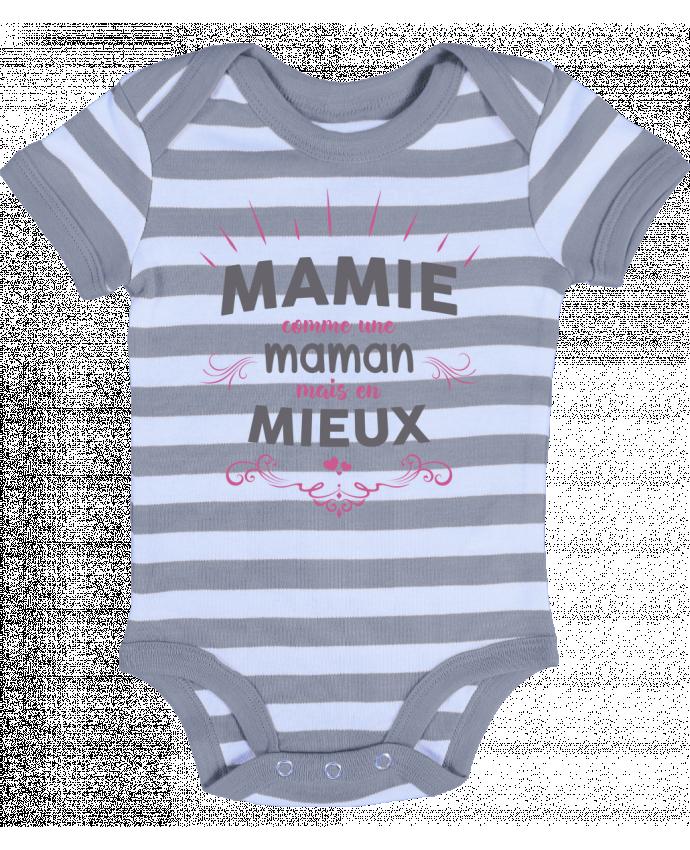 Body Bebé a Rayas Mamie comme une maman mais en mieux - tunetoo