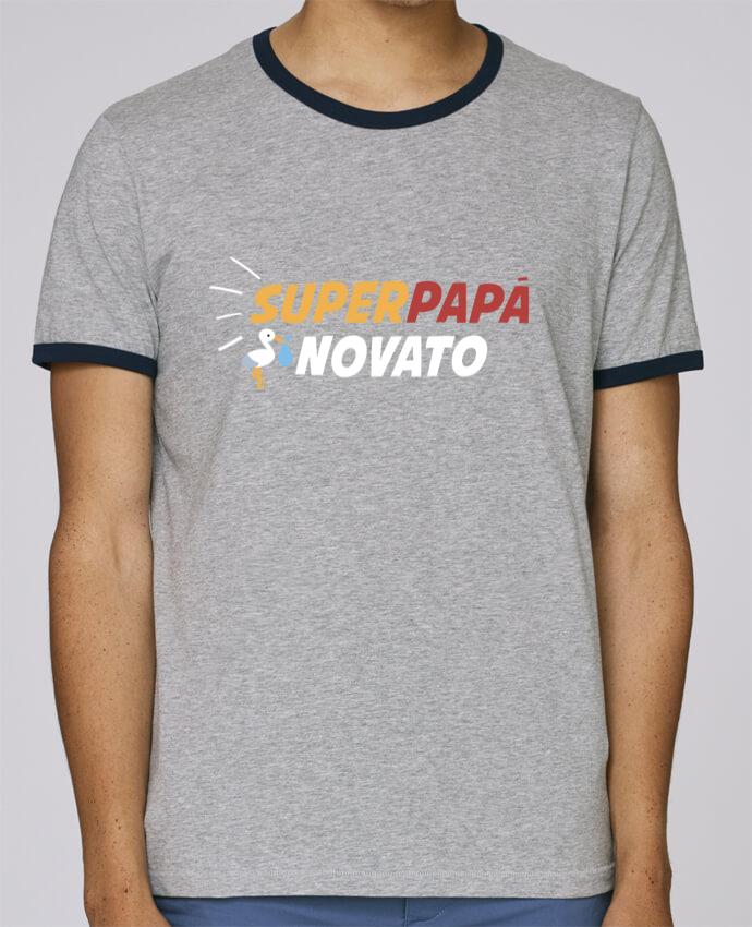 Camiseta Bordes Contrastados Hombre Stanley Holds Superpapá novato pour femme por tunetoo