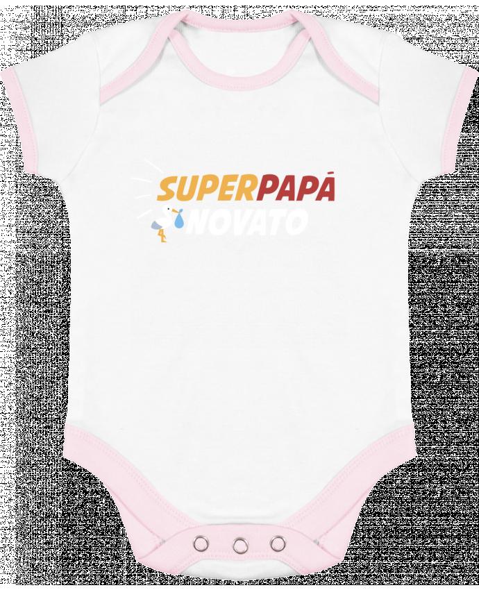 Body Bebé Contraste Superpapá novato por tunetoo