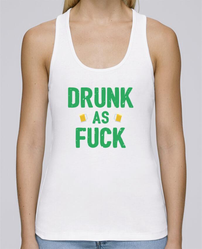 Camiseta de tirantes algodón orgánico mujer Stella Dreams Drunk as fuck por tunetoo en coton Bio