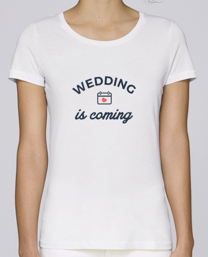 Camiseta Mujer Stellla Loves Wedding is coming por Nana