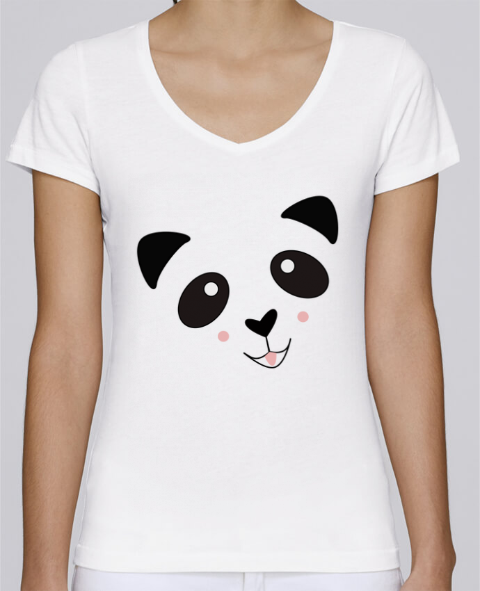 Camiseta Mujer Cuello en V Stella Chooses Bébé Panda Mignon por K-créatif