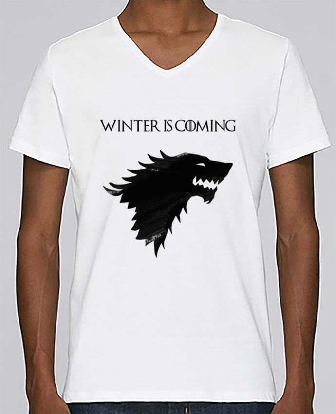 Camiseta Hombre Cuello en V Stanley Relaxes Winter is coming - Stark por tunetoo
