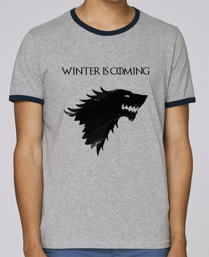 Camiseta Bordes Contrastados Hombre Stanley Holds Winter is coming - Stark pour femme por tunetoo