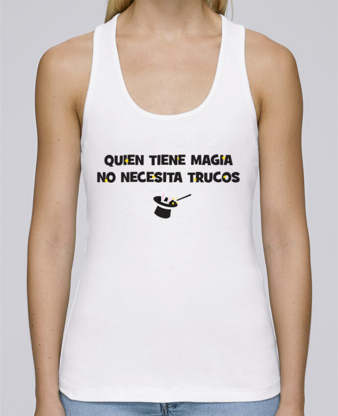 Camiseta de tirantes algodón orgánico mujer Stella Dreams Quien tiene magia no necesita trucos por tunetoo en coton Bio