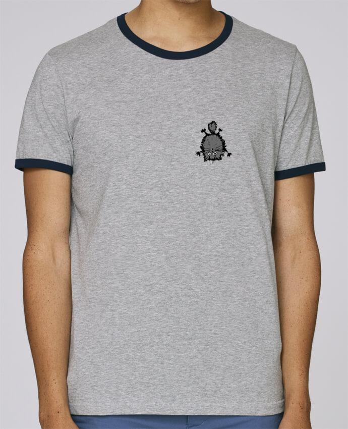 Camiseta Bordes Contrastados Hombre Stanley Holds Chat pour femme por caroline.c