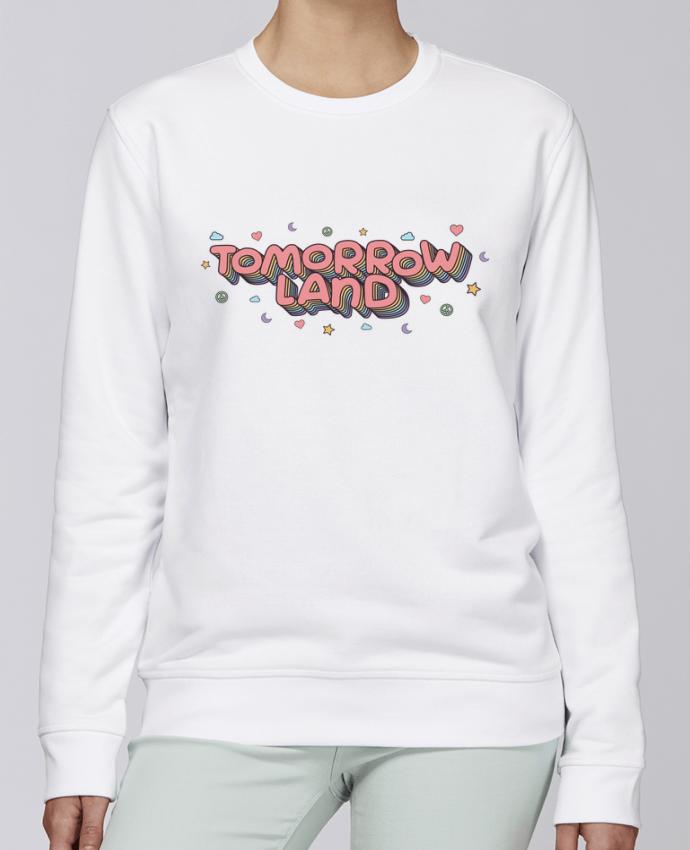 Sudadera básica manga pegada unisexo Stanley Stella Rise Tomorrowland por tunetoo