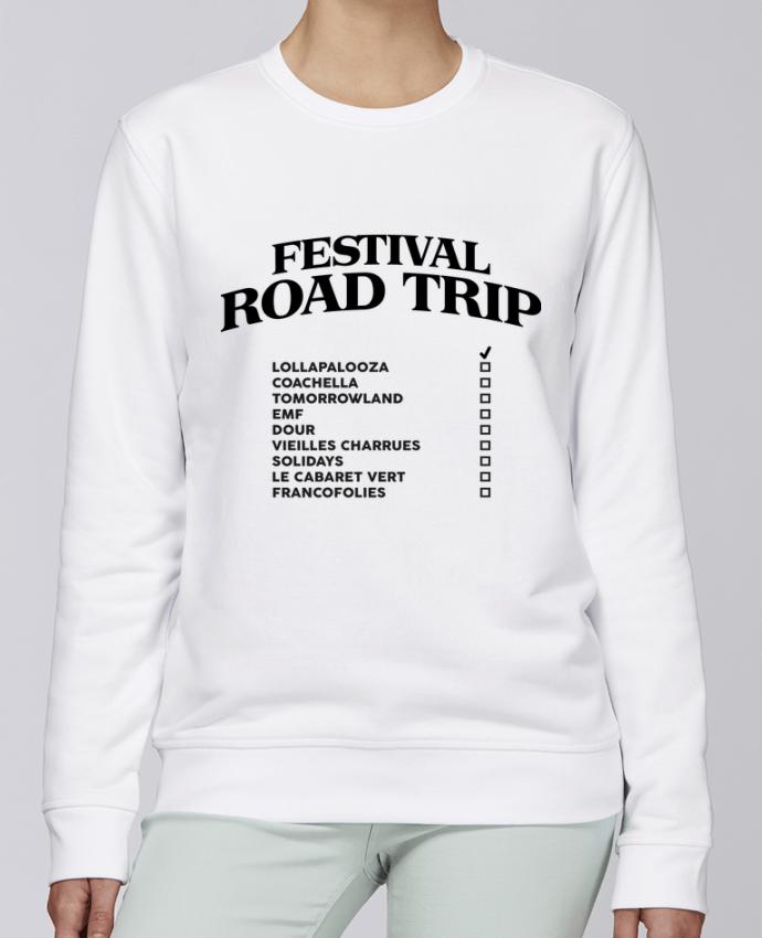 Sudadera básica manga pegada unisexo Stanley Stella Rise Festival road trip por tunetoo