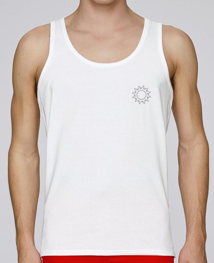 Camiseta de tirantes algodón orgánico hombre Stanley Runs Sun & Moon 1 por tunetoo 100% coton bio