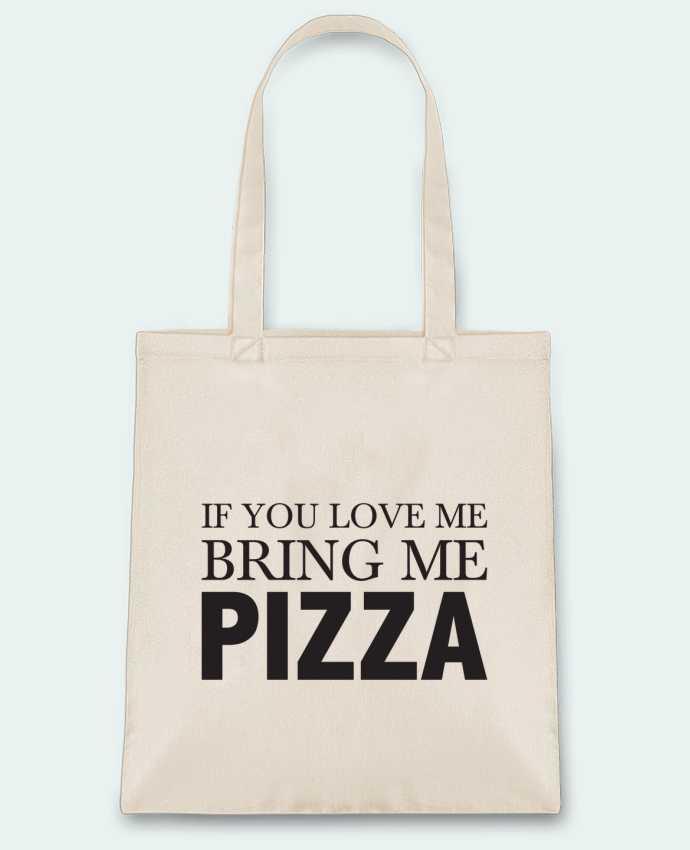 Bolsa de Tela de Algodón Bring me pizza por tunetoo