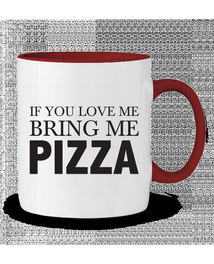 Taza Cerámica Bicolor Bring me pizza tunetoo