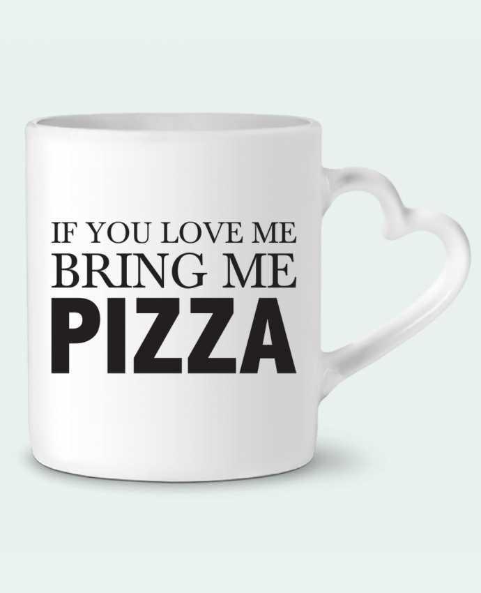 Taza Corazón Bring me pizza por tunetoo