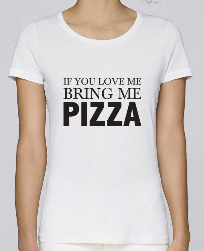 Camiseta Mujer Stellla Loves Bring me pizza por tunetoo