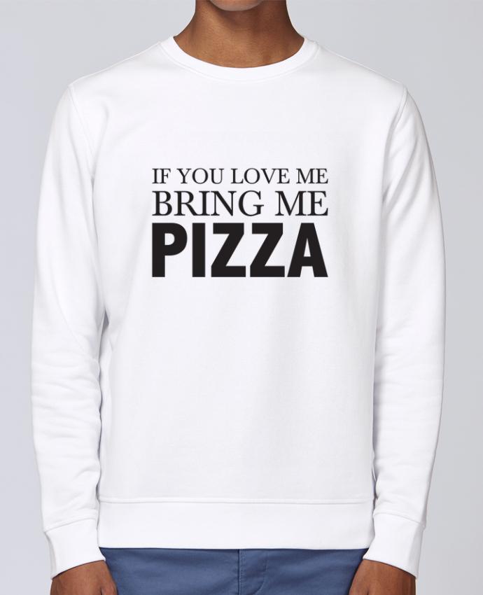 Sudadera básica manga pegada unisexo Stanley Stella Rise Bring me pizza por tunetoo