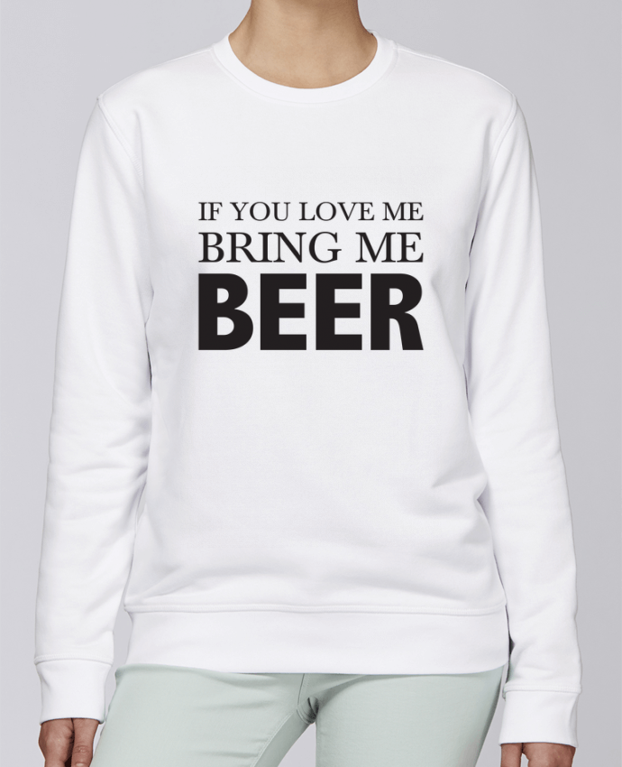 Sudadera básica manga pegada unisexo Stanley Stella Rise Bring me beer por tunetoo