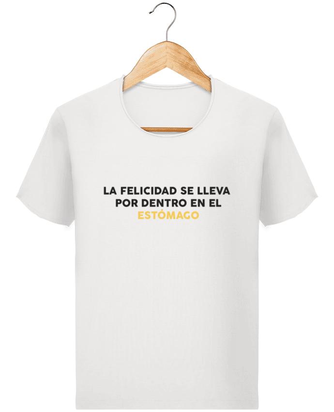 Camiseta Hombre Stanley Imagine Vintage La felicidad se lleva por dentro en el estómago por tunetoo