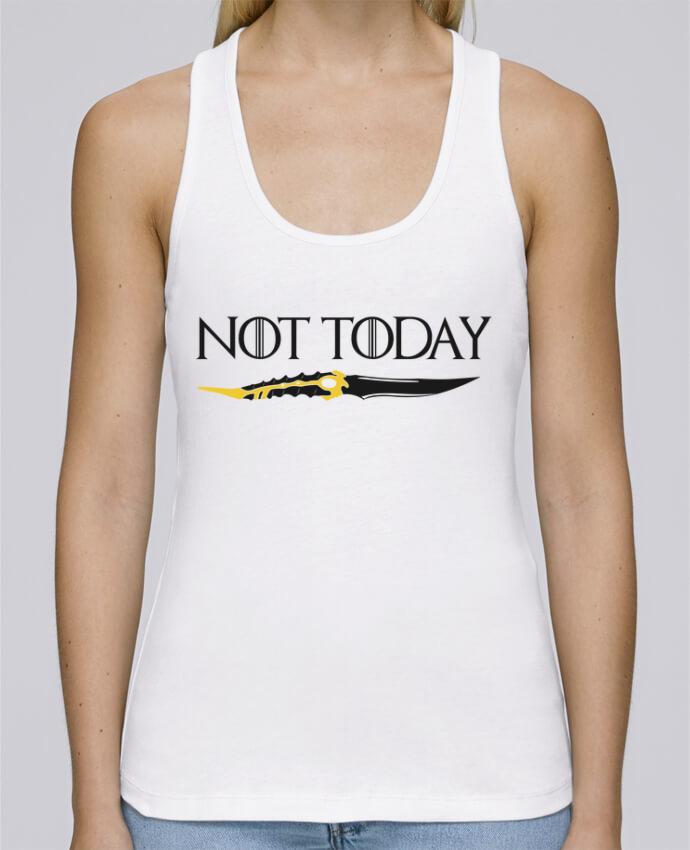 Camiseta de tirantes algodón orgánico mujer Stella Dreams Not today - Arya Stark por tunetoo en coton Bio