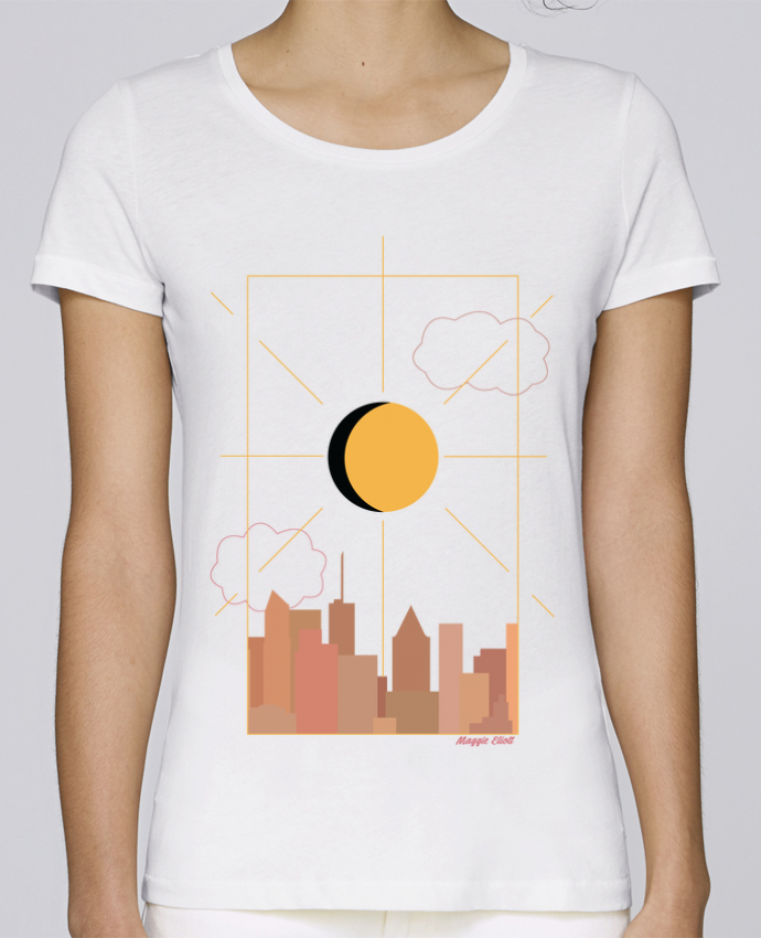 Camiseta Mujer Stellla Loves Ville abstraite por Maggie E.