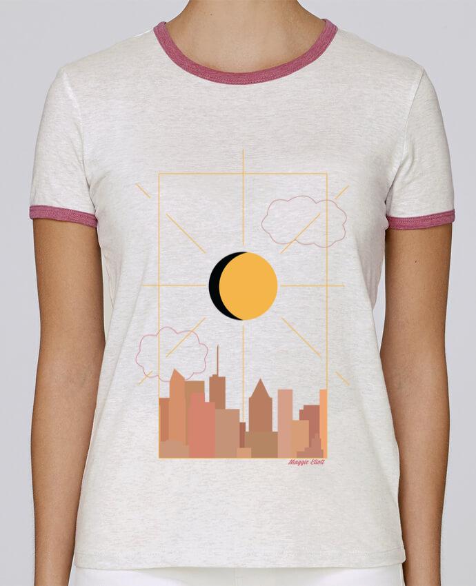 Camiseta Mujer Stella Returns Ville abstraite pour femme por Maggie E.