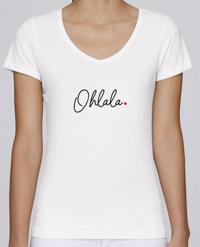 Camiseta Mujer Cuello en V Stella Chooses Ohlala por Nana