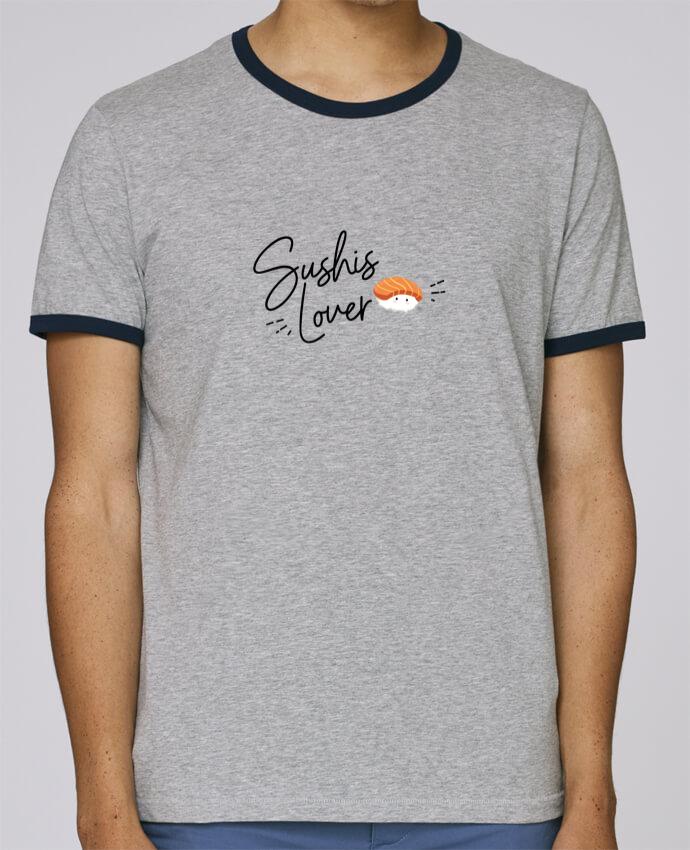 Camiseta Bordes Contrastados Hombre Stanley Holds Sushis Lover pour femme por Nana
