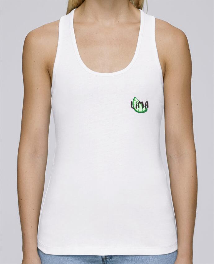 Camiseta de tirantes algodón orgánico mujer Stella Dreams Tequila y lima 2 por tunetoo en coton Bio