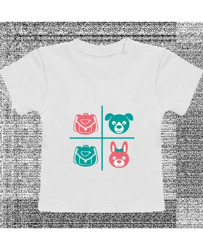 Camiseta Bebé Manga Corta school kids manches courtes du designer TEYTO