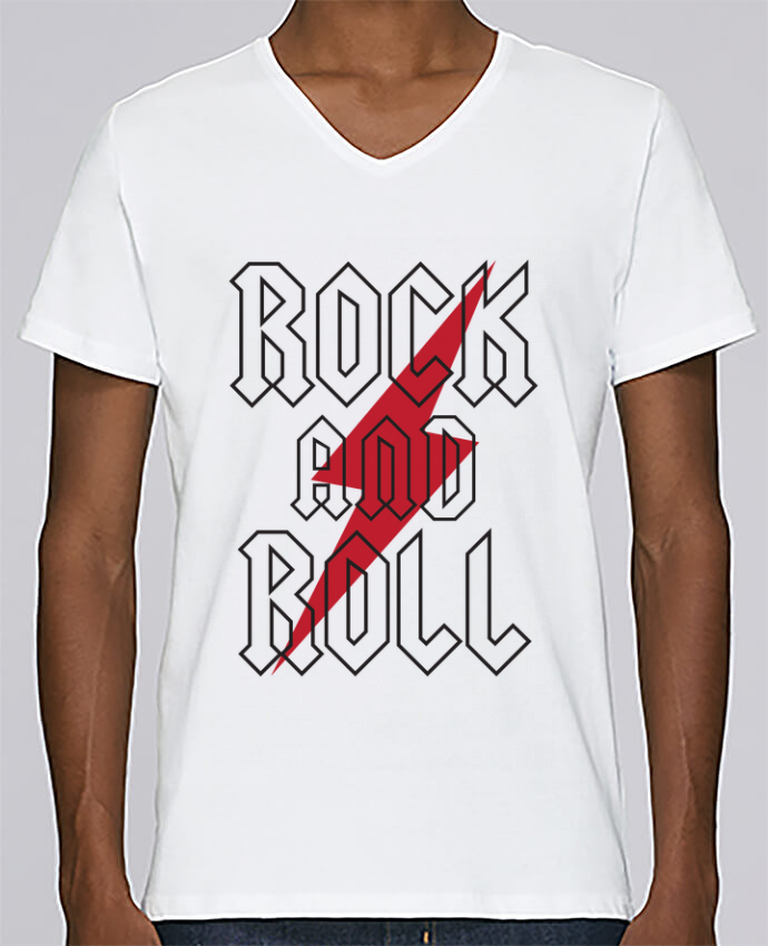 Camiseta Hombre Cuello en V Stanley Relaxes Rock And Roll por Freeyourshirt.com