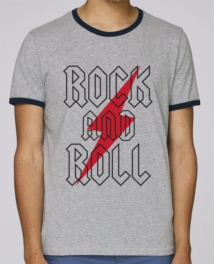 Camiseta Bordes Contrastados Hombre Stanley Holds Rock And Roll pour femme por Freeyourshirt.com